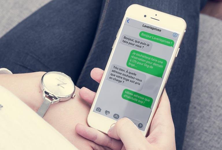 laverie par sms